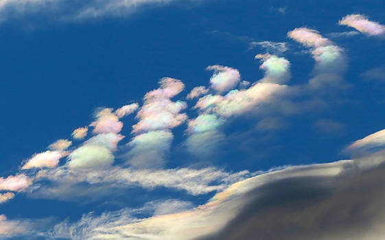 Iridescent clouds 2 by Frank Lee Hawkins