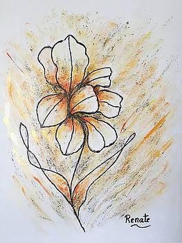 Iris Art-flower.... by Renate Dartois