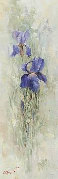 Irises in the Garden by Oleg Trofimoff