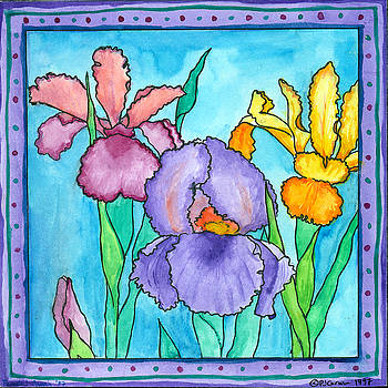 Irises by Pamela  Corwin