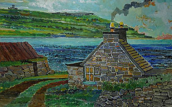 Irish Coast Stone House by Donald McGibbon