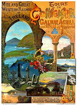 Irish Railway Tour Poster 1900 by Padre Art