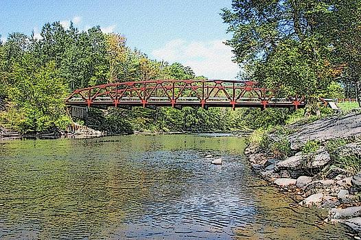 Iron Rail Bridge - Sullivan County NY by Ericamaxine Price