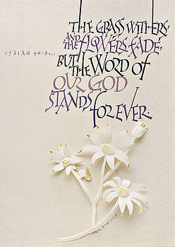Isaiah Calligraphy Print by Dave Wood