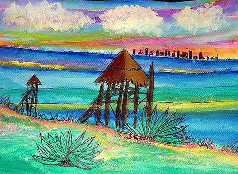 Isla Mujeres Cancun Bkg by Ted Hebbler