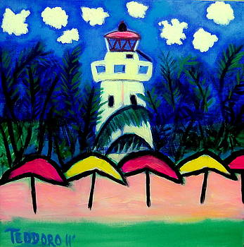 Isla Mujeres LightHouse by Ted Hebbler