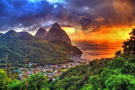 Island Sunset Rain by Scott Mahon
