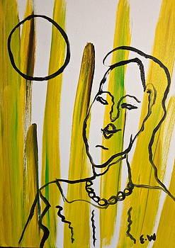 Ist self painting by Esther Wilhelm Pridgen