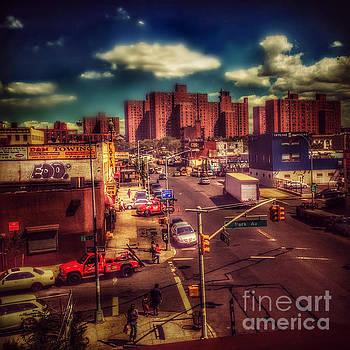 It Takes a Village - New York Street Scene by Miriam Danar