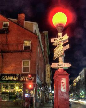 Italian Cities Sign - North End - Boston by Joann Vitali