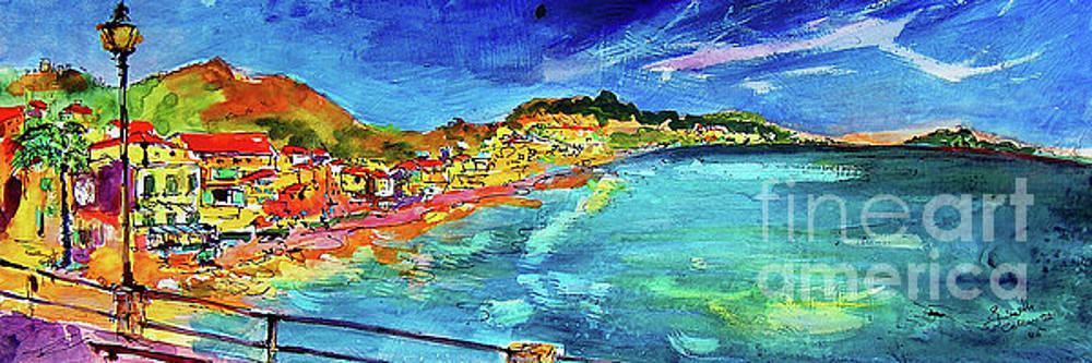 Ginette Callaway - Italian Riviera Coastline Ocean View