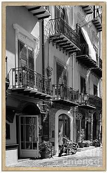Italian Street in black and white by Stefano Senise