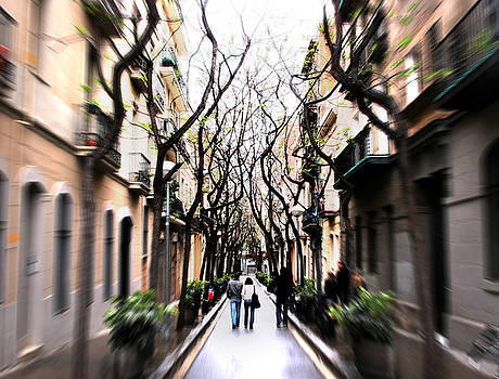 Italy Street with Trees by Jim Kuhlmann