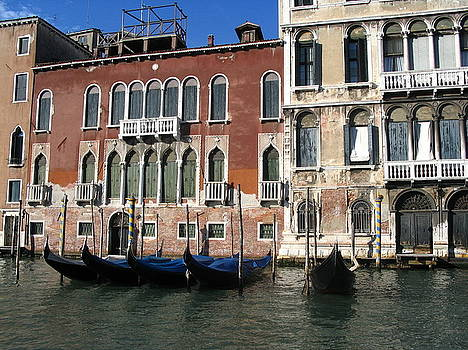 Yvonne Ayoub - Italy Venice  and gondolas on the Grand canal Palace