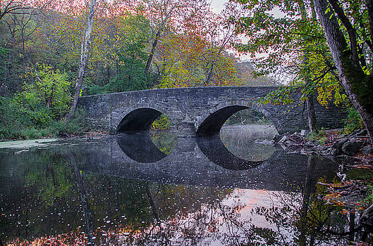 It's Autumn at the Bells Mill Road Bridge by Bill Cannon