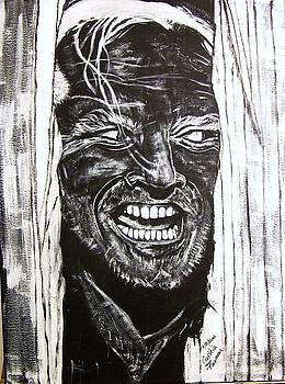 Jack Nicholson...Here's Johnny by Cynthia Farmer