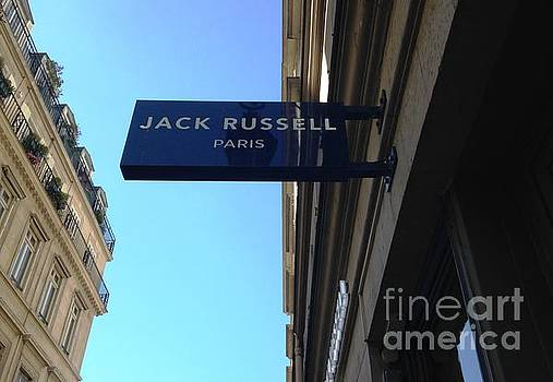 Jack Russell Paris by Therese Alcorn