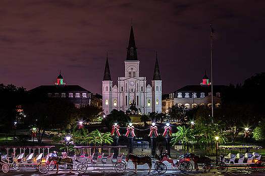 Jackson Square at Night by John Daly