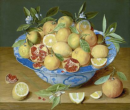 Jacob van Hulsdonck - Still Life with Lemons Oranges and a Pomegranate by Bishopston Fine Art