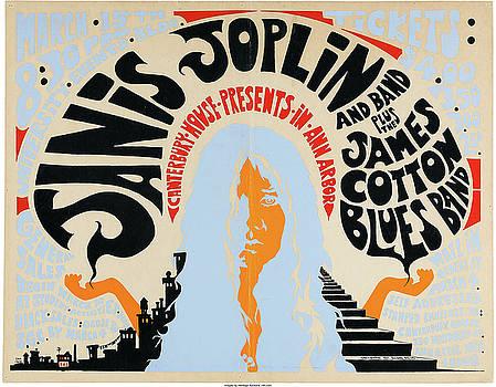 Janis Joplin concert poster by Allen Beilschmidt