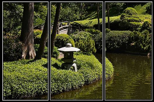 Japanese Garden Triptych by Kathy Churchman