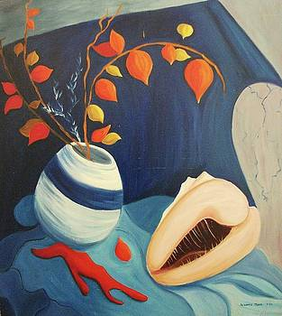 Suzanne  Marie Leclair - Japanese Lanterns and Shell