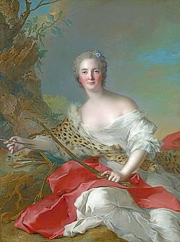 Jean-Marc Nattier - Portrait of Constance-Gabrielle-Magdeleine Bonnier de la Mosson as Diana by Bishopston Fine Art