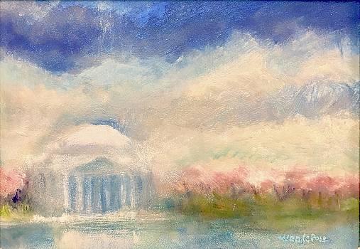 Jefferson Memorail in Spring by Wen LePore