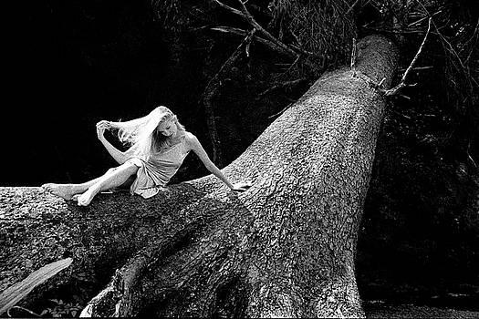 Jen on Big Log by Joe Klune
