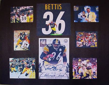 Jerome Bettis #36 Running Back Pittsburgh Steelers by Donna Wilson