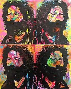 Jerry Garcia 4X by Dean Russo