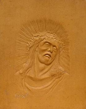Jesus by Wall sculpture artist Ahmed Shalaby