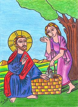 Jesus and the samaritan woman by Eman Allam
