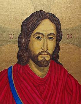 Jesus Christ Pantocrator - After Salus Populi Romani by Michele Myers