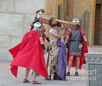 Jesus During Passion Play  by John Malone
