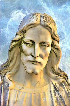 Jesus of Nazareth Sculpture Mount Olivet Cemetery Nashville TN by Photo Captures by Jeffery