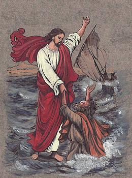 Jesus Saves Peter by Morgan Fitzsimons