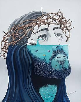 Jesus Walks on the Water by Edwin Alverio