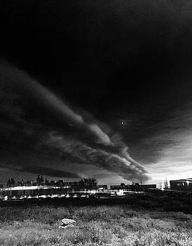 Jet Stream and Moon by Brian Sereda