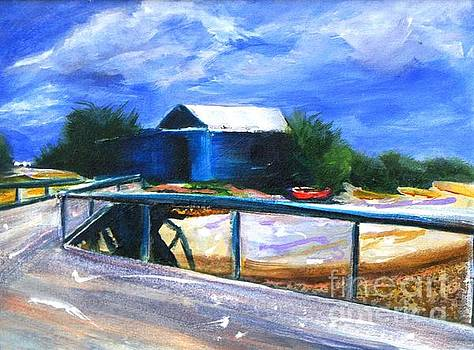 Jetty and Boatshed by Therese Alcorn