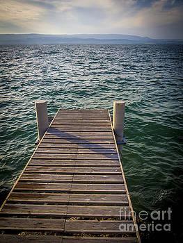 BERNARD JAUBERT - Jetty on Lake Leman