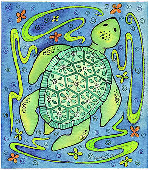 Jewel Sea Turtle by Rachel Cotton