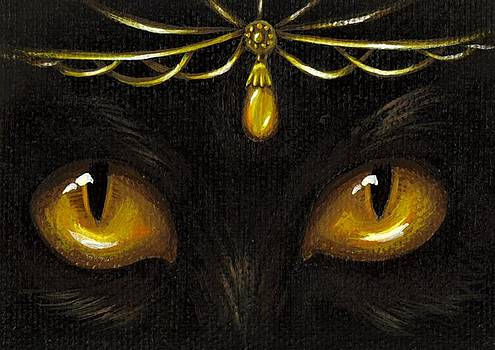 Jeweled Kitty Amber by Elaina  Wagner