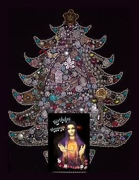 Jeweled Tree Birthday Blessings by Myrna Migala