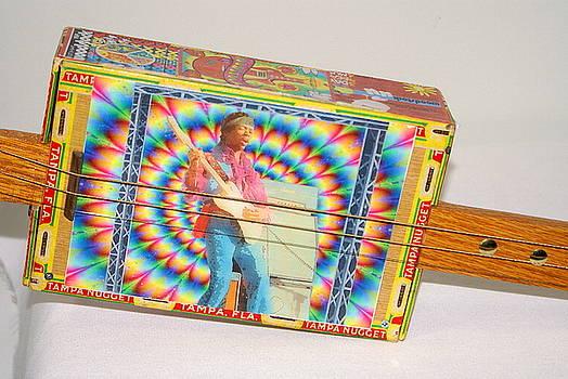 Jimi Hendrix Cigar Box Guitar by Danny Jones