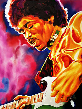 Jimi Hendrix ''Golden Fingers'' by Hector Monroy