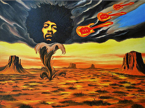 Jimi Hendrix ''Kiss the Sky III'' by Hector Monroy