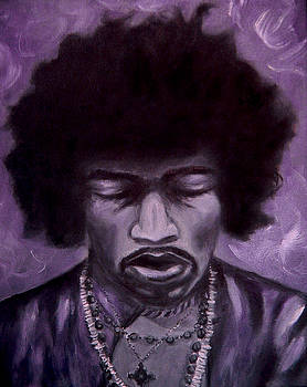 Jimi Hendrix by Tabetha Landt-Hastings