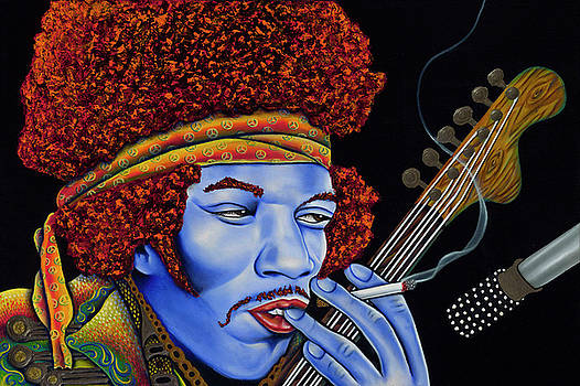 Jimi in thought by Nannette Harris
