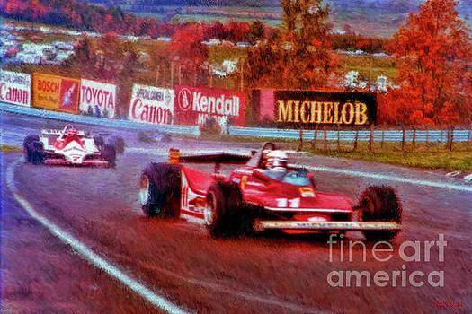Jody Scheckter Leads John Watson At Watkins Glen by Blake Richards